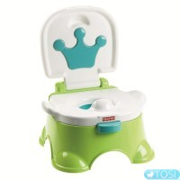 Горшок музыкальный Fisher Price Royal Stepstool Potty Green W4119
